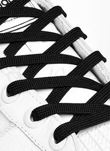 FLAT-BLACK-SHOE-LACES-LONG-SHOELACES-8mm-wide-11-LENGTHS-VERY-HIGH-QUALITY
