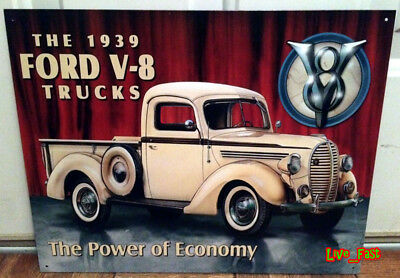 FORD V8 METAL RETRO SIGN