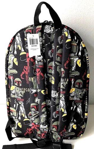 """Star Wars 16/"""" Backpack Boba Fett All Over Print Book Bag School Travel New"""