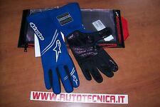 Guanti auto rally pista Alpinestars Tech 1 Start tg L blu omolog. Fia 8856 2000