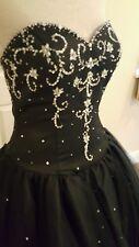 Hermione firma nera gothic Gypsy Prom abito da ballo Abito da sposa 10 UK 12