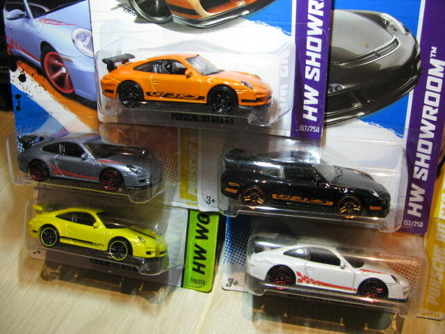 Hot wheels Porsche 911 GT3 RS hotwheels diecast (5pcs)