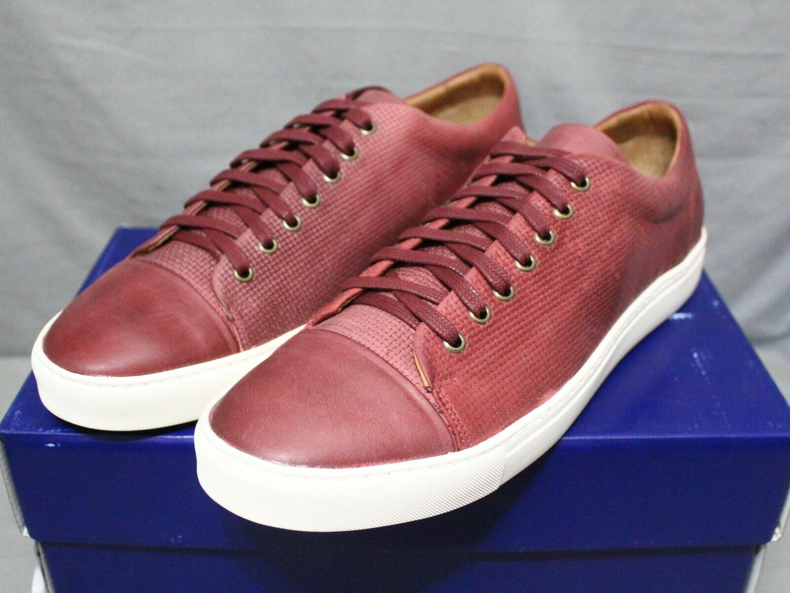 BROTHERS UNITED mens low heel lace up leather ruby ILLINOIS shoes size 13 M New