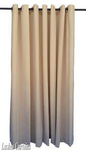 beige 72 inch long velvet curtain panel w ring grommet top eyelets window drape ebay. Black Bedroom Furniture Sets. Home Design Ideas