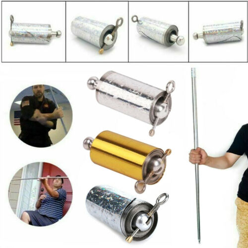 Portable Magic Pocket Staff Steel Metal Outdoor Sport Magical Wand Gold Toy 1.1M