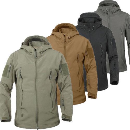 ESDY Outdoor Men Jacket Waterproof TAD Coat Sports Shark Skin Soft Shell Hoodie