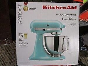 Kitchenaid Aqua Sky Stand Mixer Ksm150psaq