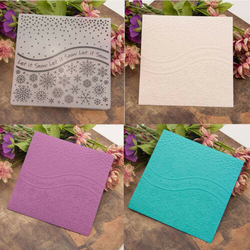 Snow Embossing folders Plastic Embossing Folder For Scrapbooking DIY card CN