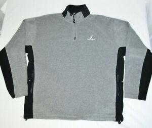 Nautica-1-4-Zip-Pullover-Fleece-Jacket-Sweatshirt-Long-Sleeve-Gray-Black-Mens-XL