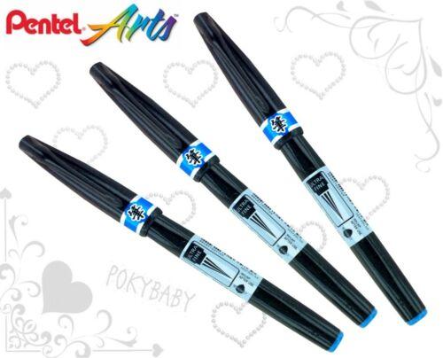FREE SHIP 3pcs Pentel Arts SESF30C Ultra Fine Brush Sign Pen RED ink