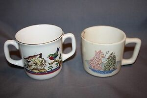 Old child's cup and two handled cup from Norway