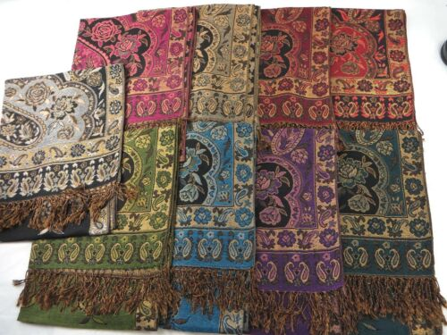 lot of 20 Scarf paisley flower vintage pashmina wholesale shawl $4.5 each