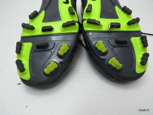 6eb46274a NIKE T90 US 4Y EUR36 GRAY   DAYGLO CLEATS 385409-470 GOOD USED CONDITION MGK