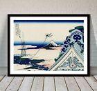 "Beautiful Japanese Landscape Art ~ CANVAS PRINT 8x10"" ~ Hokusai Honganji Temple"