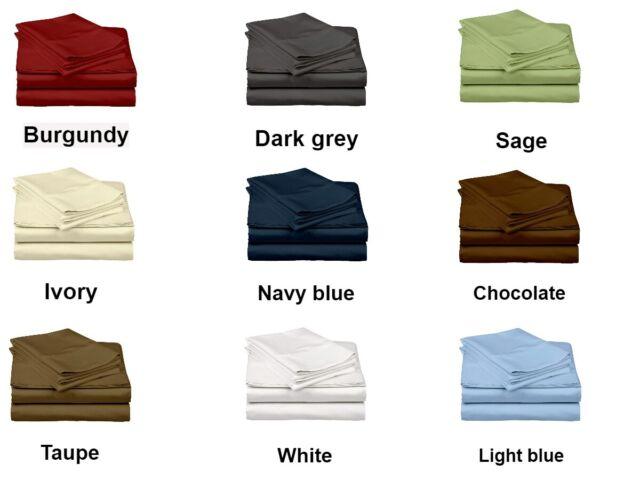 "LIGHT BLUE ROUND BED 4PC SHEET SET 1000TC EGYPTIAN COTTON 14/"" PKT CHOOSE SIZE"