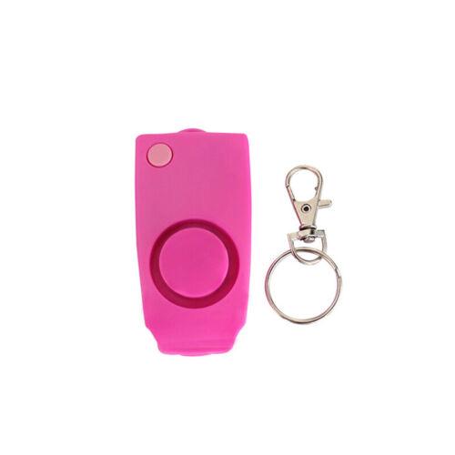 Clé De Protection Chaîne panique Dispositif d/'alarme de sécurité auto alerte Loud attaque