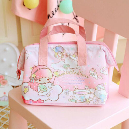 Cute Little Twin Stars Lunch Box Bag Storage Handbag Insulation Picnic Bag Gift