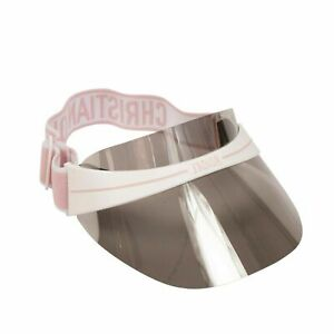 Nwt Dior Pink And White Diorclub 1 Logo Transparent Sun Visor Hat 385 Ebay