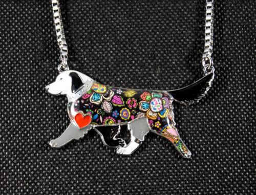 Perro joyas retriever-collar con correa esmaltado remolque