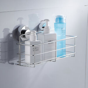 Image Is Loading Non Rust Stainless Steel Material Shower Caddy Suction