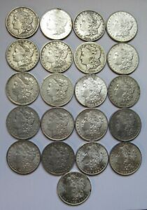 21-Coin-Morgan-Dollar-Collection-with-Different-Dates-and-or-Mint-Marks