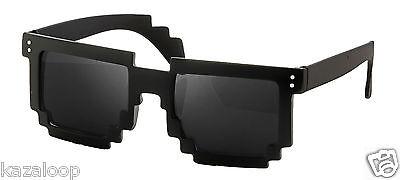 CPU 8 Bit Pixel Wayfarer Pixelated Geek Novlety Sunglasses Vintage
