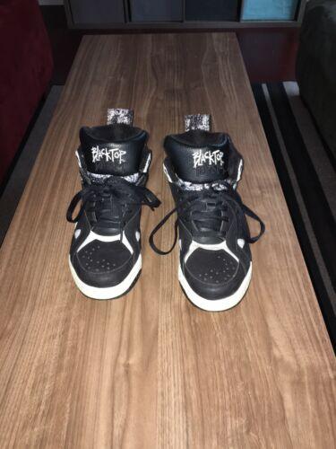 VTG Reebok Black Top Boulevard Black White Shoes S