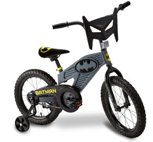 Batman 16 Wheel Boys Bike Kids Black Bicycle New Training Wheels Single Speed Ebay
