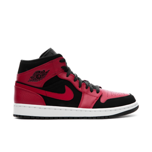 Nike-Air-Jordan-1-Mid-Bred-Black-Gym-Red-White-Men-Shoes-554724-054-Authentic