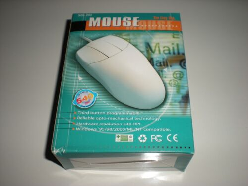 Has small DIN connector. New old stock PS//2 computer mouse in unopened box