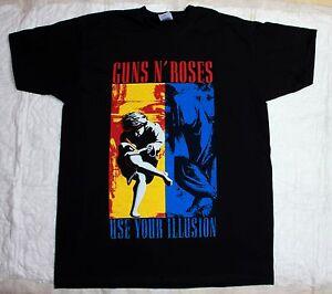 guns n roses use your illusion axl rose slash poison ratt black t shirt ebay. Black Bedroom Furniture Sets. Home Design Ideas