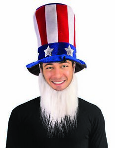 Uncle-Sam-Patriotic-4th-of-July-Hat-With-White-Beard-Adult-Costume-Accessory