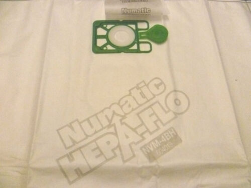 NVM4BH NVM4B 604019 PACK OF 5 GENUINE VACUUM BAGS NUMATIC HEPAFLO NVM-4BH