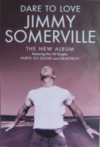 """40x60"""" HUGE SUBWAY POSTER~Jimmy Somerville 1995 Dare to Love Heartbeat Hurts NOS"""