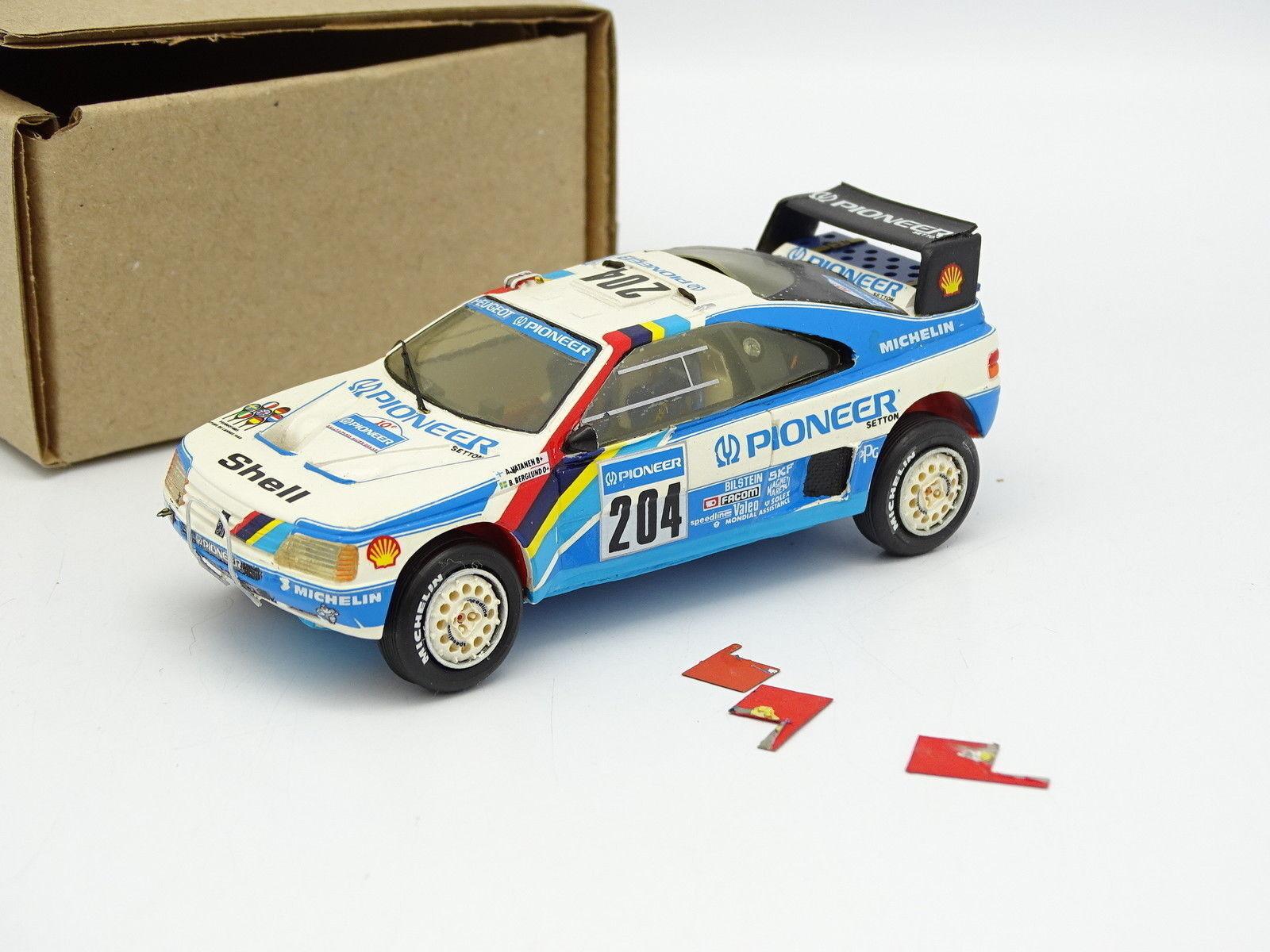 Starter Set Aufgebaut 1 43 - Peugeot 405 T16 Rallye Paris Dakar 1988 Nr.204