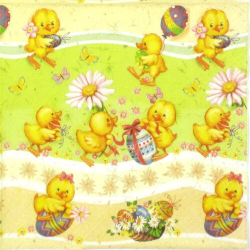 Happy Chickens Decoupage Decopatch Craft 4x Paper Napkins for Party