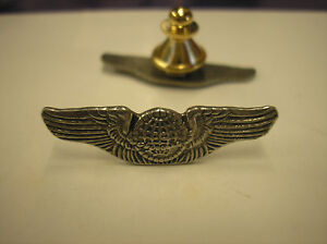 MILITARY-HAT-PIN-REPLICA-OF-U-S-ARMY-AIR-CORPS-AIR-FORCE-WWII-NAVIGATOR-WINGS