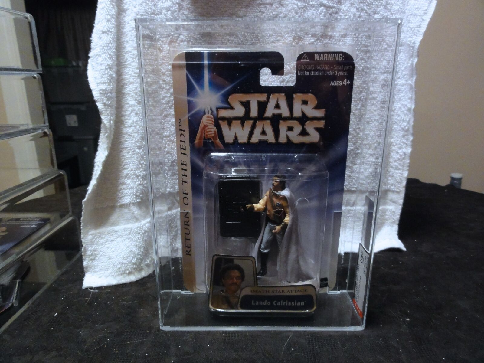 Star Wars 2004 Star Wars ROTJ Lando Calrissian Death Star AFA Sealed MIB BOX