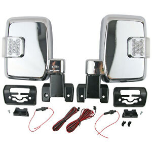 Pair Chrome Electric Door Side Mirror w/ LED For Land Cruiser 70 1984-ON