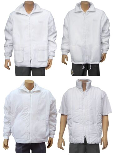 CATHEDRAL Mens Jacket Coat Outerwear Bowling Bowls White Bodywarmer Bomber 2019