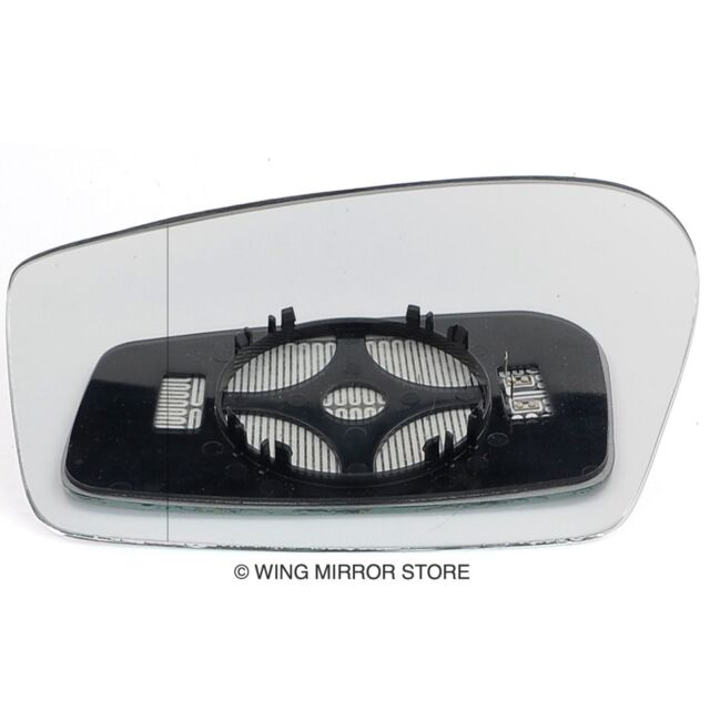 Left passenger side mirror glass with clip for Peugeot 2008 2013-2016 heated