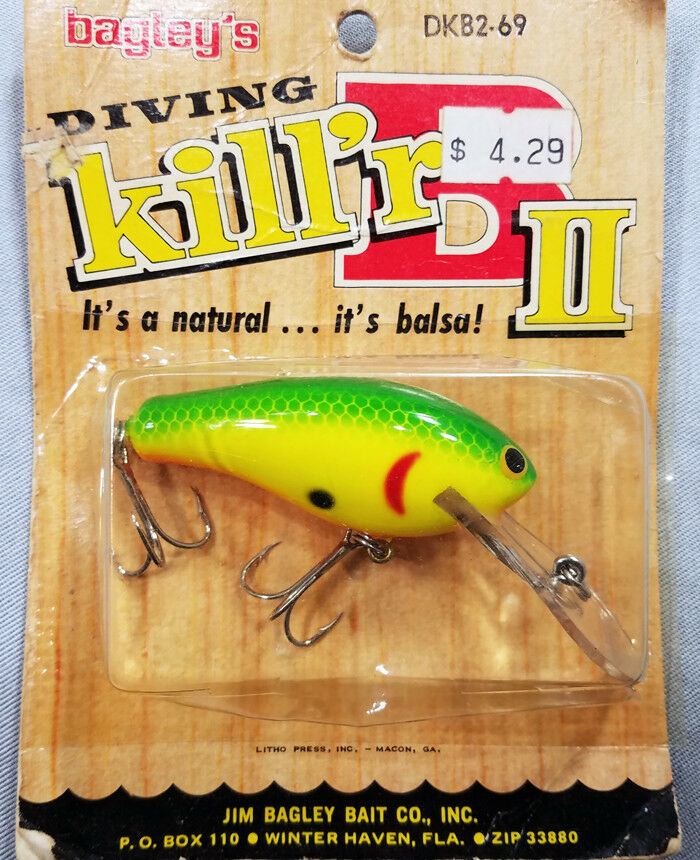 Bagley DKB2-69 Fishing Lure  Vintage  Collectible  Hard to Find