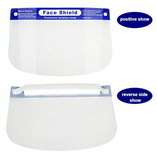Full Clear Face Shield x20 Dental Shield  Protective Film Visor Safety Cover