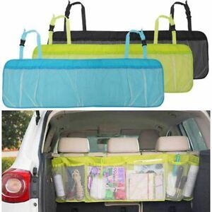 Car Mesh Pocket Hanging Boot Trunk Seat Tidy Storage Travel Basket Organiser Box
