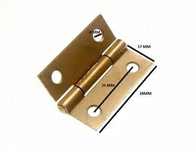 Schrauben 1 Pairs Gesundheit FöRdern Und Krankheiten Heilen Sonstige Honig Scharniere Tür Kiste Eb Messing Vernickelt Stahl 38mm 3.8cm