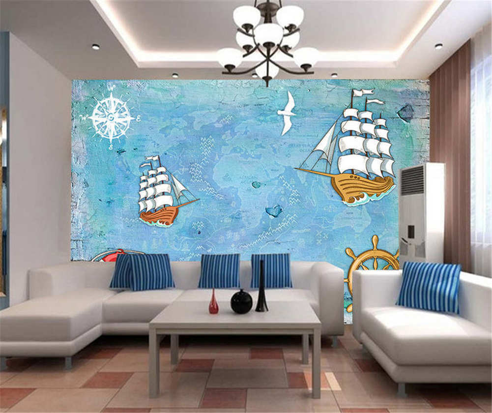 Massive Rorty Ships 3D Full Wall Mural Photo Wallpaper Printing Home Kids Decor