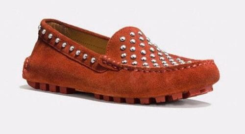 Terracotta Arlene Coach Suede Women Moc 7 Shoes Studded New Loafer 190233583033 Orange gHO8wqx