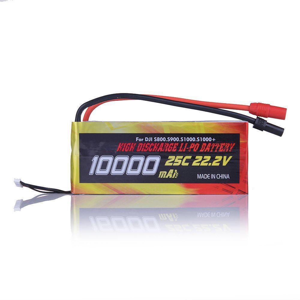 10000mAh 6S1P 22.2V 25C Batería Lipo para Helicóptero teledirigido DJI S800 S900 S1000