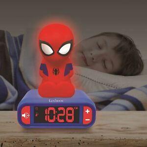 Spiderman-Veilleuse-Alarme-Horloge-Chambre-Coucher-Enfants