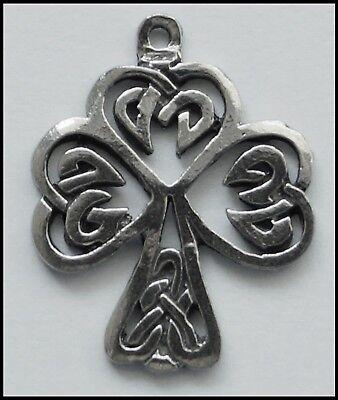 5pcs Antique Silver Large Celtic Knot Shamrock Charms Pendants Jewelry Fingings